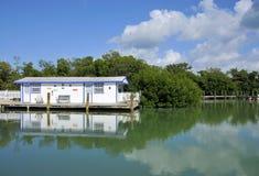 Bo på vattnet Royaltyfri Fotografi