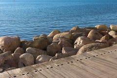 Bo01_promenade. Bo01 seaside promenade during summer Stock Image