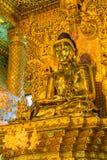 Bo Ta Tuang Paya tempel, Myanmar Arkivfoton