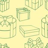 Bo?te-cadeau color?s avec des arcs et des rubans Dirigez l'illustration sans joint illustration stock