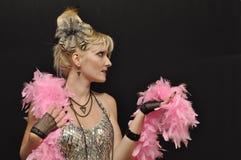 boa γυναικείο ροζ στοκ εικόνες