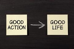 A boa ação resulta boa vida Fotos de Stock