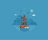 Boa a campana del mare sul fondo della spiaggia Immagine Stock