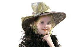 boa dziewczyny kapelusz trochę Zdjęcia Stock