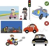 Boa e ilustração má do hábito de condução ilustração stock