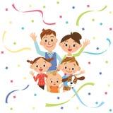 Boa família do amigo e flâmula de papel Foto de Stock