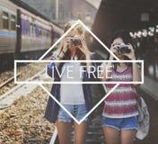 Boa felicidade Live Concept da sensação feliz da vida Fotografia de Stock