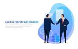 Boa governança corporativa A equipe do negócio concorda com o grupo de princípio e de cooperação ilustração do vetor