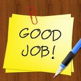Boa ilustração de Job Represents Well Done 3d Foto de Stock Royalty Free