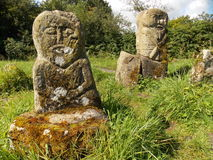 Boa Island Celtic idols. Royalty Free Stock Photo