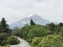 Boa manhã de Fuji foto de stock