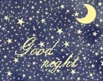 Boa noite Foto de Stock Royalty Free