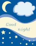 Boa noite Fotografia de Stock Royalty Free