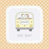 Boa noite card1 Imagem de Stock