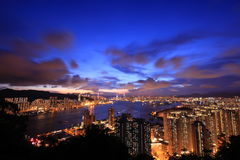 Boa noite Hong Kong Imagens de Stock Royalty Free