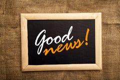 Boa notícia Fotografia de Stock