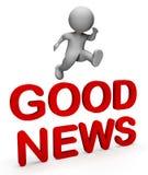 A boa notícia indica a rendição da primeira classe e do boletim 3d Imagem de Stock