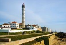 Boa Nova Lighthouse i Matosinhos Fotografering för Bildbyråer