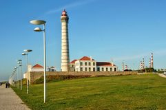 Boa Nova Lighthouse in Matosinhos stock photo