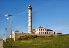 Boa Nova Lighthouse in Matosinhos Royalty Free Stock Image