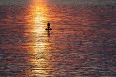 Boa in oceano Fotografie Stock