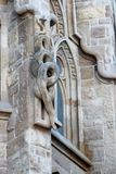 The snake on the facade of the Catholic Cathedral of the Holy Family in Barcelona, Spain. stock photos