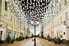 Boa rua velha de Moscou foto de stock