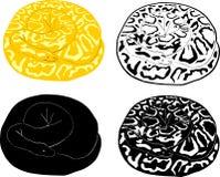 Boa silhouette set Royalty Free Stock Photos