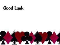 Boa sorte com cartões de jogo Imagem de Stock Royalty Free