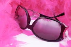 Boa and sunglasses Royalty Free Stock Photo