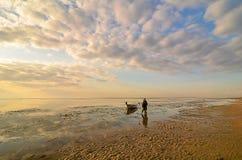 Boa tradizionale di pesca Immagine Stock Libera da Diritti