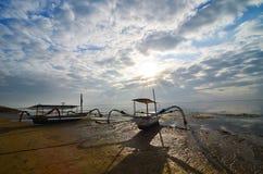 Boa tradizionale di pesca fotografie stock libere da diritti
