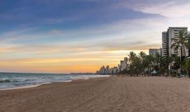 Boa viagem Beach in Recife - Pernambuco, Brazil. Boa viagem Beach in Recife in Pernambuco, Brazil royalty free stock images