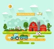 Boa vinda à exploração agrícola! Imagens de Stock Royalty Free