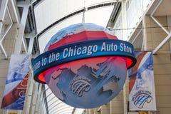 Boa vinda à feira automóvel de Chicago fotografia de stock