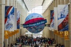Boa vinda à feira automóvel de Chicago foto de stock