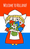 Boa vinda à Holanda Foto de Stock Royalty Free