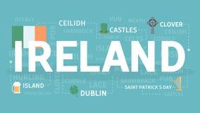 Boa vinda à Irlanda ilustração do vetor