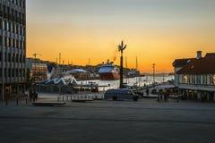 Boa vinda à porta de Stavanger Fotografia de Stock