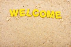 Boa vinda às férias Imagens de Stock