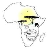 Boa vinda a África ilustração do vetor