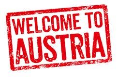 Boa vinda a Áustria Imagens de Stock Royalty Free