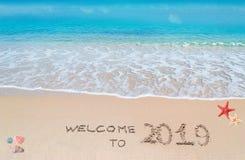 Boa vinda a 2019 imagem de stock