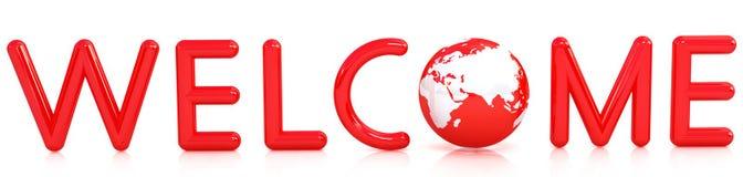 boa vinda 3d Imagens de Stock