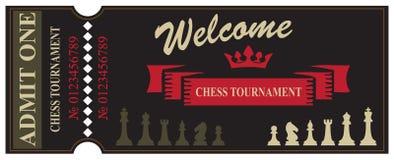 Boa vinda ao competiam da xadrez Fotografia de Stock