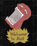 Boa vinda ao inferno ilustração stock