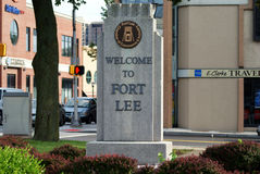 Boa vinda ao Lee do forte, NJ foto de stock royalty free