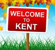 Boa vinda ao país de Kent Shows United Kingdom And Imagens de Stock