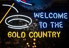 Boa vinda ao país do ouro Imagem de Stock