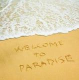 Boa vinda ao paraíso Imagens de Stock